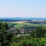 Blick vom Burgberg Richtung Westen