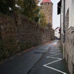 An der Stadtmauer in Fritzlar