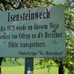 Hinweistafel Isensteinwech