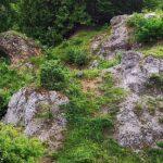 Dolomitfelsen und Karstsenken